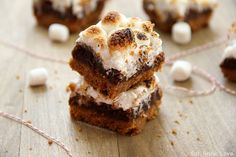 S'mores Brownies! Swap out the BAD Flour and gram crackers with Gluten-Free ingredients!