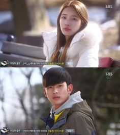 Go Hye Mi (Suzy) y su encuentro con Do Min Joon - My Love From Another Star, Episodio 17 My Love From Another Star, Dream High, Best Dramas, Suzy, Sleep, Kpop, Stars, Sterne