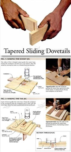 Tapered Sliding Dovetails - Joinery Tips, Jigs and Techniques | WoodArchivist.com