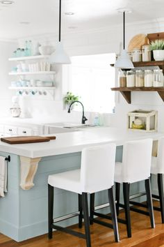 For this Utah kitchen, reader Cami Graham DIY-ed the shelves using wood that her grandfather milled decades ago.