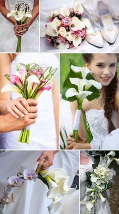 Brautstrauss mit Calla in Weiß