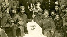 Jewish soldiers of the German Army celebrating Hanukkah during WW1 in 1916.