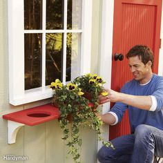 Stripped-Down Window Planter - Make this simple planter box that's all curves and circles. The ingenious design, besides being easy-to-build, also means it resists rot far better than traditional window boxes. Learn how to build this wooden planter box alternative here.                        wooden planter box alternative here