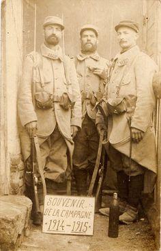 """WW1 """"Souvenir de la Campagne 1914-1915"""", French Poilus"""
