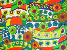 psychedelic vintage fabric