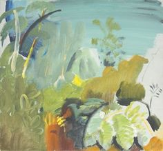 Ivon Hitchens, 'Green Evening', 1950 (oil on canvas) Landscape Artwork, Abstract Landscape, Abstract Art, Paintings I Love, Abstract Flowers, Painting Inspiration, Framed Wall Art, Pop Art, Contemporary Art