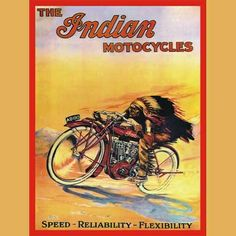 Image Detail for - Indian Motorcycles Advertising Metal Sign