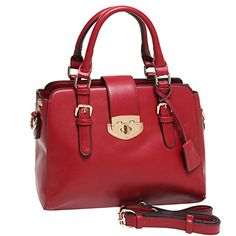 MG Collection Roxc Classic Red Tote Purse Convertible Satchel Bag Red One Size -- Click image to review more details.