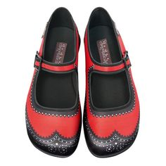 Chocolaticas Habana Carmine Women's Mary Jane Flat