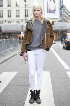 Acne 'Velocite' shearling jacket