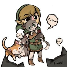 theamazingkeaton:  there is nothing better than picking up random cats and running around in hyrule castle 8D