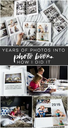 I LOVE this idea of family photo year books- so practical and these tips to organize your photos to get it done are so practical # photo organization Modern Yearly Photobooks- & organizing years of photos - Lemon Thistle Photo Memories, Family Memories, Family Yearbook, Foto Fun, Diy Inspiration, Photo Storage, Memory Books, Photo Projects, Photo Craft