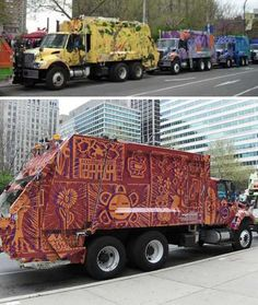 beautiful garbage trucks of Philadelphia