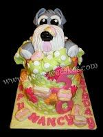 Schnauzer Got To Mom's Cake! 50th Birthday. All Edible.