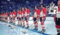 /CNW/ - Canada Post today unveiled its latest Canada 150 stamp by uniting legendary players who wore this country's flag as members of Team Canada 1972 with. Canada Cup, Canada Post, Brad Park, Hockey World, Summit Series, Sports Fanatics, Final Four, Olympic Champion, Country Music Stars