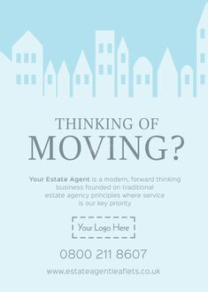 Thinking of moving? - Browse through hundreds of Letting Agent design templates! by @estateagentleaflets  Visit our website for more information! #leaflet #estateagentleaflets #estateagents product code: E1087