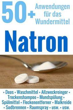 Natron ist unglaublich vielseitig und nützlich - als Reiniger, beim Backen, gegen Sodbrennen, im Deo und viel mehr.: