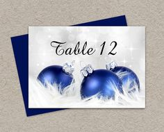 Place Cards Printable Christmas