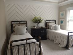 Girls Room   Chevron Accent Wall: Delicate White By Porter Paints   Wall  Color Is