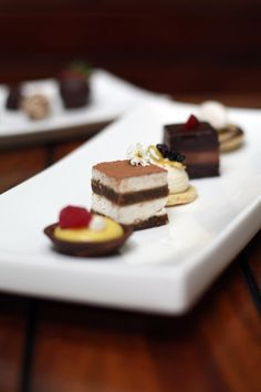 catering deserts options from pure food and wine