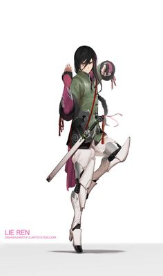 """""""Lie Ren HD images are available on my Patreon"""" Rwby Anime, Rwby Fanart, Rwby Ren, Rwby Characters, Fictional Characters, Lie Ren, Character Art, Character Design, Character Sketches"""