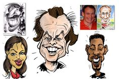 How To Draw Caricatures - Expert Video Lessons from 30 year veteran caricaturist Artist Graeme Biddle Drawing Lessons, Art Lessons, Wedding Caricature, Easy Drawings For Beginners, Funny Caricatures, Caricature Drawing, Arts And Entertainment, Teaching Art, Learn To Draw