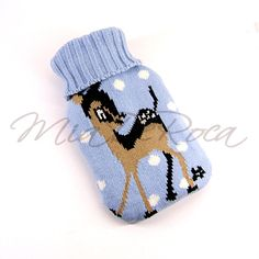 Bedroom mus have - Blue Hot Water Bottle Fawn Luis - MiaDeRoca Bambi, Home Accessories, Baby Shoes, Interior Decorating, Water Bottle, Rooms, Beige, Bedroom, Christmas