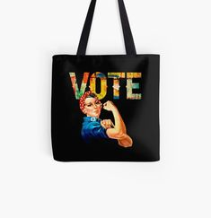 Nasty Women Vote Rosie the Riveter by tshirtdesignhub | Redbubble Rosie The Riveter, Being Ugly, Chiffon Tops, Classic T Shirts, Reusable Tote Bags, Sticker, Hoodies, Stuff To Buy, Women