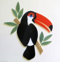 TOUCAN PARROT BIRD Mosaic Garden Stone Inlay