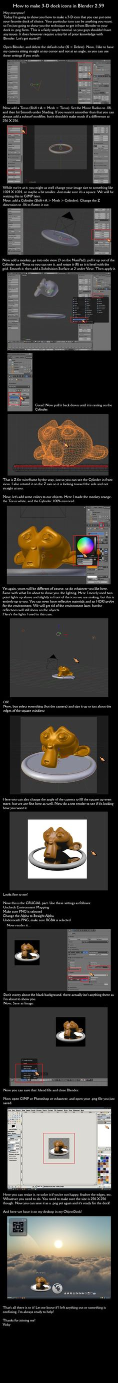 Blender 3-D Dock Icon Tutorial by VickyM72