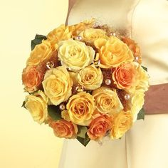 """Fall Wedding Bouquets   This style of bouquet is called a """"composite"""". Centered with one ..."""