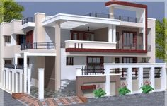 Box Type House Elevation Elevation Design- India