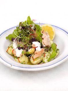 Warm Salmon Salad | Fish Recipes | Jamie Oliver Recipes