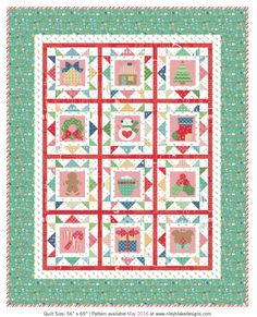 August 2016: Cozy Christmas Quilt from Lori Holt at Bee In My Bonnet: Sew Simple Shapes are required.
