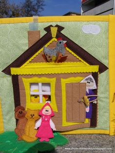 house made of felt