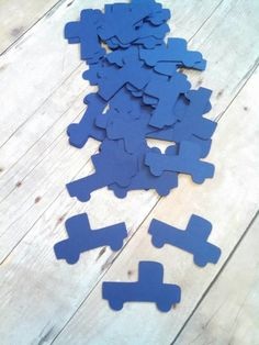 Little Blue Truck Confetti ~ Birthday Party Confetti ~ Scatter on tables or add in your invitations!