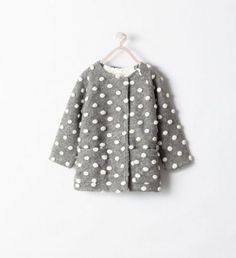 I più bei Cappotti Inverno 2015 Zara per Lei, per Lui e per i Bambini Cappotti inverno 2015 Zara Kids pois