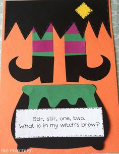 Witch craft- I want to make this into a sequencing activity. They can write how to make their own witches brew!