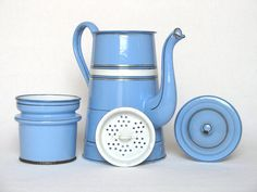 Beautiful Vintage French Enamelware Coffee by Yesterdaysfrance