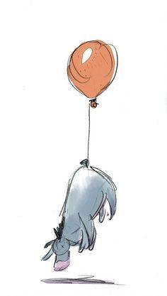 Winnie the Pooh Balloon Winnie Puuh Zeichentrick Fa¼rs Heimkino Eeyore Wallpaper and — Bj Designs Winnie The Pooh Tattoos, Winnie The Pooh Drawing, Winnie The Pooh Quotes, Art Disney, Disney Kunst, Disney Love, Pooh Bear, Tigger, Winnie Pooh Dibujo