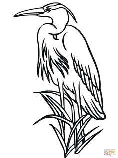 free heron clipart blue heron pinterest rh pinterest com heron clipart free heron clipart black and white