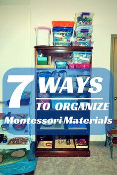 Montessori Setup: 7 Ways to Organize Montessori Materials