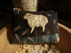 Old Crazy Quilt Sheep Pinkeep