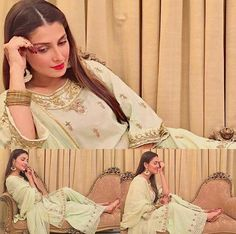 Beautiful Ayeza On Second Day Of Eid Ul Fiter Wearing! Beautiful Pakistani Dresses, Pakistani Dress Design, Cute Celebrities, Celebs, Celebrity Pictures, Celebrity Style, Pakistani Wedding Outfits, Wedding Hijab, Indian Outfits