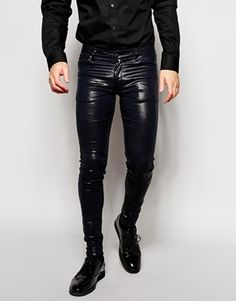 ASOS Extreme Super Skinny Jeans With Shiny Coating