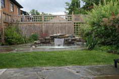 In ground tub with flagstone