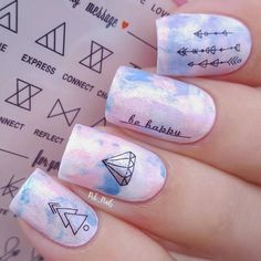 Elegant water decal sticker nail art design review from bornprettystore.com customer