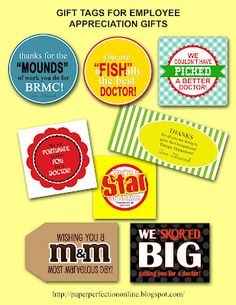 employee appreciation ideas Paper Perfection: Gift Tags for Employee Appreciation / Motivation