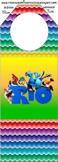 Rio - Kit Completo com molduras para convites, rótulos para guloseimas, lembrancinhas e imagens!