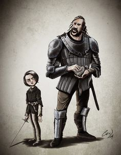 Game of Thrones Arya and the Hound by Carlyle Wilson